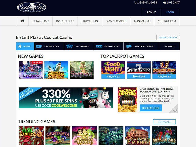 Coolcats Casino Mobile