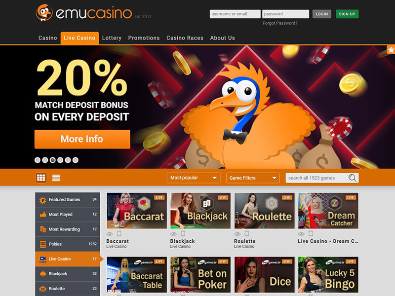 Emu Casino Comprehensive Review – Interesting Facts You Should Know