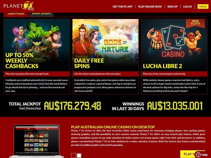 Online casino review: Planet Oz