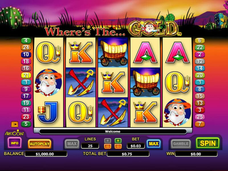 Where's the Gold Pokie – Play for Free